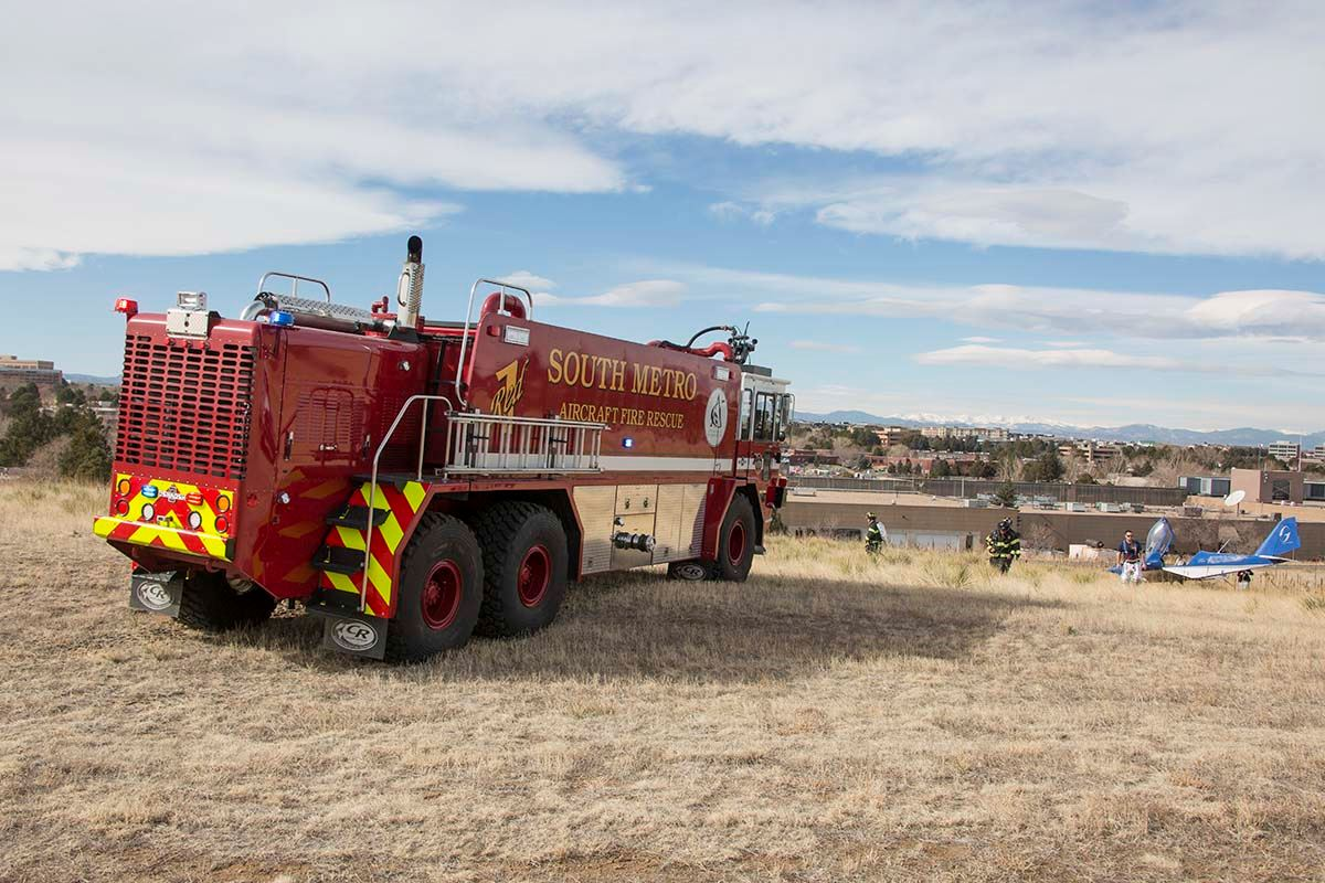 Fire Truck Parked in a Field